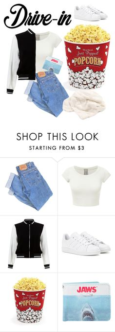"""""""Drive-in"""" by kayleighmw on Polyvore featuring Levi's, New Look, adidas, West Bend, DateNight, drivein and summerdate"""