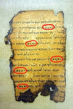 Jehovah Gods name found on manuscripts written in ancient Hebrew.