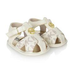 Michael Kors Baby Girls Ivory Logo Pre Walker Sandals Baby Girl Sandals, Girls Sandals, Baby Girl Shoes, Kid Shoes, Girls Shoes, Baby Girls, Cute Baby Girl, Cute Babies, Kids Outfits Girls