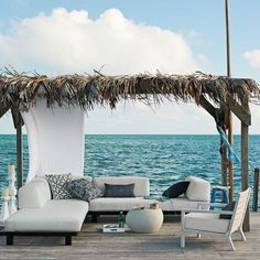 If you are looking for new porches design ideas, we got a full image gallery from top outdoor patios designers. Outdoor Rooms, Outdoor Living, Outdoor Decor, Indoor Outdoor, Outdoor Furniture, Furniture Ideas, Outdoor Lounge, White Furniture, Antique Furniture