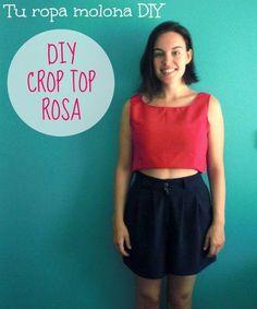 Elabora tú misma un crop top para acompañar tus looks este verano