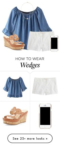 """""""summerrrr☀"""" by lydia-hh on Polyvore featuring moda, J.Crew, Moschino, Jack Rogers i Sole Society"""