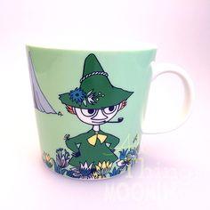 The new green Snufkin mug by Arabia coming in February 2015!