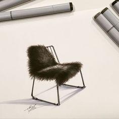 #скетч #sketching #interiorsketch #interiordesign #маркеры #мебель #дизайн #декор #design #decor #marker #drawing #sketch #furniture