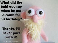cute & clean kids joke for children featuring an adorable bald gnome :)
