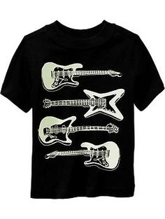 Guitar-Graphic Tees for Baby