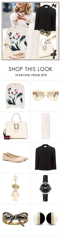 """Eluding definition  ♥♥♥"" by marthalux ❤ liked on Polyvore featuring Burberry, Roksanda, Gucci, Barrie, Chloé, RED Valentino, Prada, Movado and Marc Jacobs"