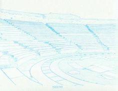 "Saatchi Art Artist Robert Lee; Drawing, ""Greek Theater by Robert S. Lee (Sketchbook p. 187)"" #Robert #S. #Lee #art #artist #drawing #color #colour #Greece #Greek #Apostle #Paul #theater #Thessalonica Entire Book on Paperback https://www.amazon.com/dp/B015Z10SPA or Kindle Edition 1 https://www.amazon.com/dp/B015100PH6 or Kindle Edition 2 https://www.amazon.com/dp/B01518XVG0 Black & White Edition https://www.amazon.com/dp/B015Z3KSEO"
