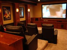 basement home theater tv wall | unfinished basement ideas