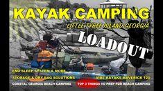 KAYAK CAMPING LOADOUT - Little Tybee Island Beach Camping Equipment