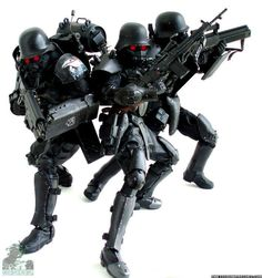 come on kerberos jin roh fans, post your collection! Jin Roh, Custom Action Figures, Figure Model, Vignettes, Diorama, Warriors, Fans, Collections, Models