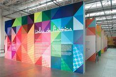 Exhibition Design by Campo for Linhas de Histórias - SESC Belenzinho #graphics #color #tradeshow