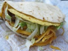 This site will teach you how to make Cheesy Gordita Crunch tacos similar to the ones served at Taco Bell. The recipe may appear to be a disa. Taco Bell Recipes, Mexican Food Recipes, Ethnic Recipes, Tasty Dishes, Food Dishes, Main Dishes, Soft Tacos, Fast Dinners, Restaurant Recipes
