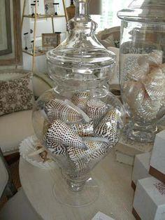 Vases full of shells ...