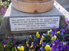 Historic street lantern plaque
