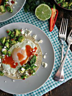 Breakfast Tacos with Avocado Salsa