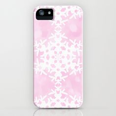 Snowflake Pink Ice iPhone & iPod Case by Lisa Argyropoulos - $35.00