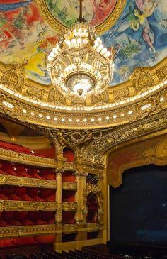 Opera Garnier, Paris, France Marc Chagall on the ceiling. Marc Chagall, Amazing Architecture, Architecture Details, Charles Garnier, Paris Opera House, Louvre Paris, I Love Paris, Paris Ville, Phantom Of The Opera