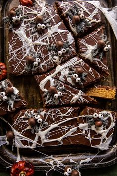 Black Widow Peanut Butter Bars | halfbakedharvest.com Holidays Halloween, Halloween Treats, Halloween Party, Halloween Goodies, Halloween Stuff, Happy Halloween, Fall Recipes, Holiday Recipes, Holiday Foods