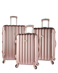kensie Expandable Luggage Collection - Rose Gold