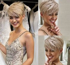 Elegant Short Blonde Pixie Hairstyles – Styles and more interesting things Blonde Haircuts, Cute Short Haircuts, Short Sassy Hairstyles, Edgy Pixie Haircuts, Pixie Haircut Styles, Sassy Haircuts, Brunette Hairstyles, Everyday Hairstyles, Hair Cuts For Over 50