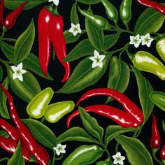 Salsa Picante Red Hot Chili Peppers Robert by BywaterFabric