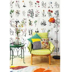 Looking for nice decoration for the wall? Get started yourself and make your muu … – Wall… Looking for nice decoration for the wall? Get started yourself and make your muu … – Wall… – Germany uniek – Home Decor Bedroom, Living Room Decor, Living Spaces, Wall Spaces, Cosy Home, Botanical Wallpaper, Quirky Wallpaper, Plant Wallpaper, Diy Wallpaper