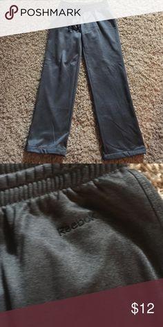 """Reebok fleece lined sweat pants Reebok dark gray fleece lined sweat pants.  30 1/2"""" inseam Reebok Pants Track Pants & Joggers"""