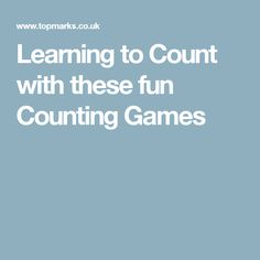 Learning to Count with these fun Counting Games