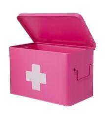 HEMA box, in roze en in wit, 14,59, twee + één gratis