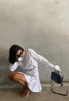 Fashion Poses, Fashion Outfits, Travel Outfits, Fashion Fashion, High Fashion, Summer Outfits, Cute Outfits, Insta Photo Ideas, White Mini Dress