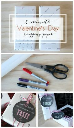 Video tutorial for quick and easy, personalized Valentine's Day wrapping paper