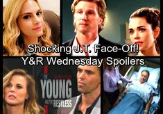 The Young and the Restless Spoilers: Wednesday, March 28 – J. Faces Mac's Wrath – Jack Arrested – Billy's Blast from the Past Soap News, Mac S, Young And The Restless, Face Off, Wednesday, The Past, Laundry, Celebs, Laundry Room