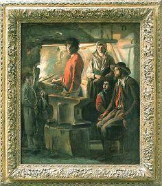 Louis LE NAIN La Forge  Vers 1642-1643  Huile sur toile H. : 0,69 m. ; L. : 0,57 m. Louvre
