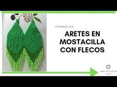 👉ARETES EN MOSTACILLA CON FLECOS #1👈:✨Tutorial aretes en mostacilla paso a paso en español✨ - YouTube
