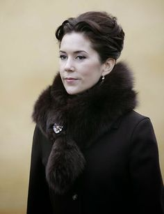 Crown Princess Mary (perhaps too dark of a brown, love the brooch add)