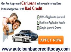 Compare Auto Financing Interest Rates of AutoLoanBadCreditToday and choose best deals in Pre Approved Car Financing with instant approval.