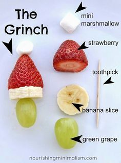 Kiddie food fest: The Grinch.