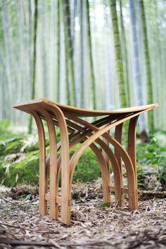 Furniture Designs: Flexible Bamboo Stool by Grass Studio | Like Good ...