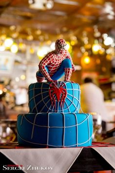 Spiderman cake for that special little boy.