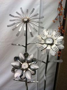 Recycled Silverware Flowers