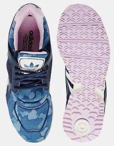 Adidas | Adidas Originals Racer Lite Navy Print Trainers at ASOS