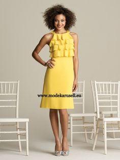 Midi Abendkleid in Gelb