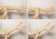 7 Wrist Stretches to Undo The Damage of Typing All Day | Fitness Wrist Stretches, Fitness Planner, Exercise Planner, Sore Neck, Fist Pump, Arm Muscles, Tennis Elbow, Toned Arms, Texting