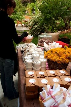 Outdoor party with a grab & go menu!  Such a great idea and a really good menu as well.  I think I will do this next BBQ!
