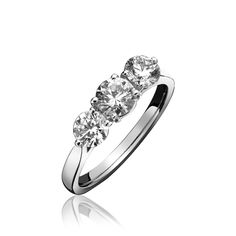 Diamond Ring Three Stone Claw Set 18ct White Gold   C W Sellors Fine Jewellery and Luxury Watches