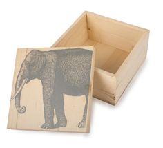 Thomaspaul - Pine Wood Boxes Elephant BX0326-PINE at 2Modern