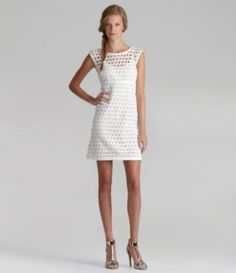 38c5bce3b0 Laundry by Shelli Segal ALine Dress Little white dress
