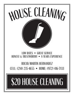 house cleaning flyers
