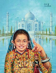 """India - As featured in """"My Very Own World Adventure"""" personalized children's book by I See Me!"""